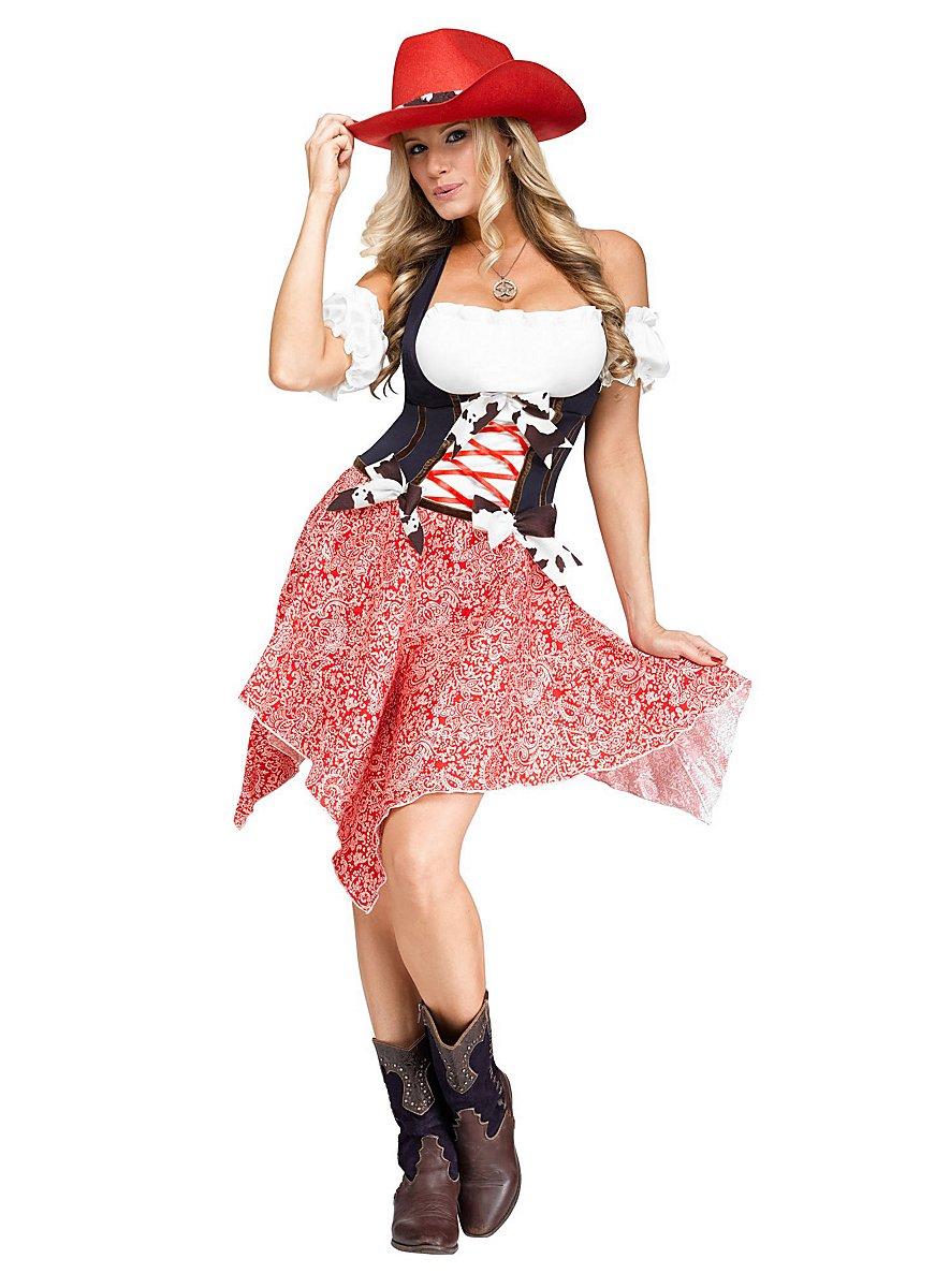 Dashing Cowgirl Costume Maskworld Com
