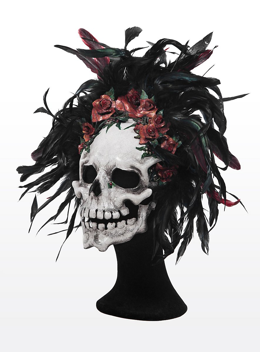 Day Of The Dead Leather Half Mask Maskworld Com
