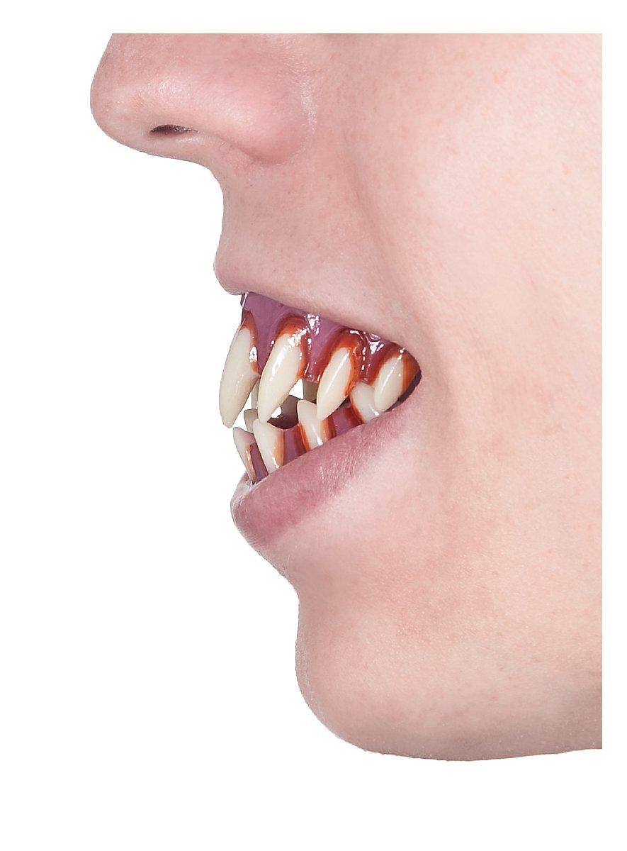 how to make fake monster teeth