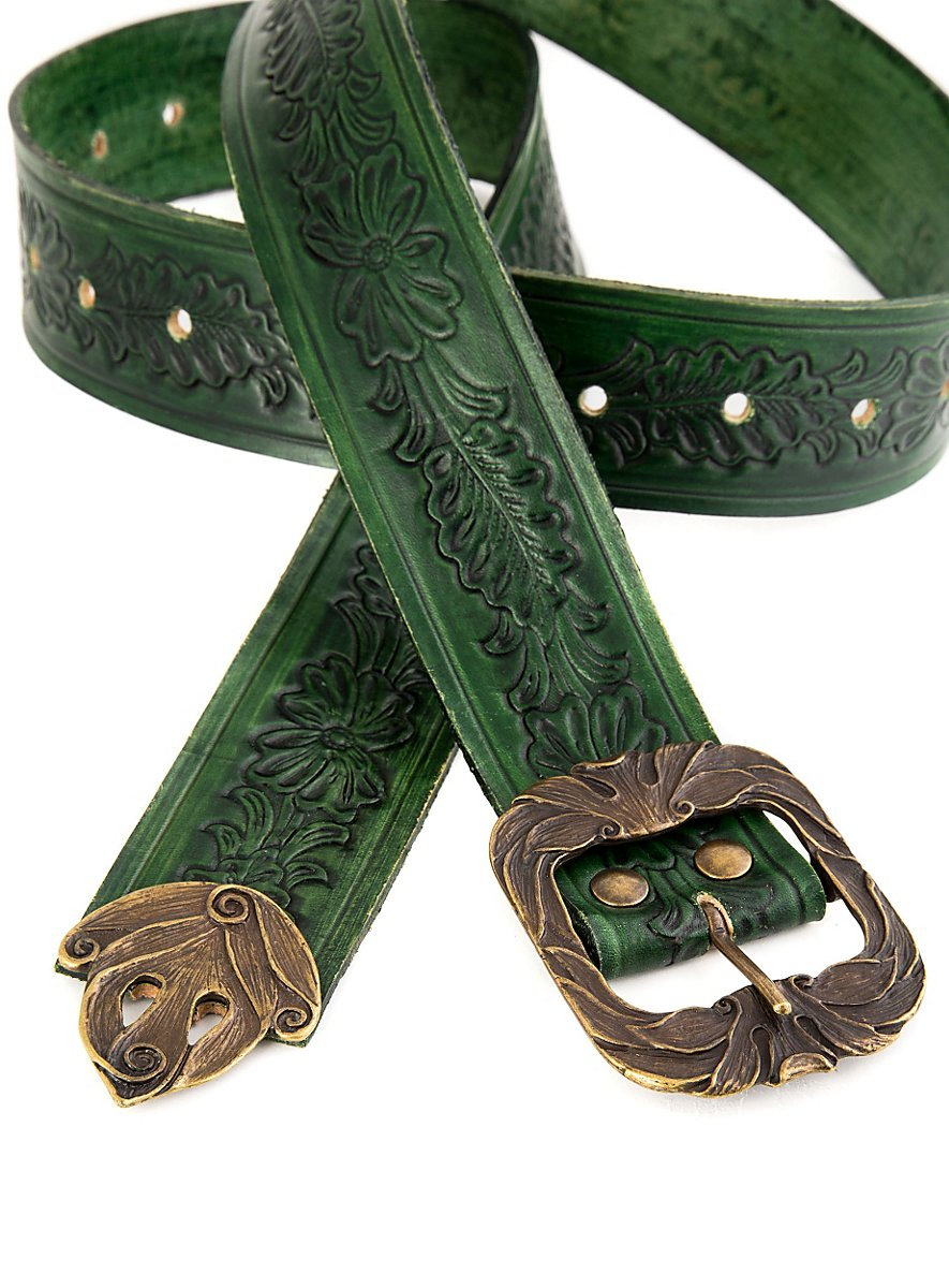 Elf Leather Belt Green Maskworld Com