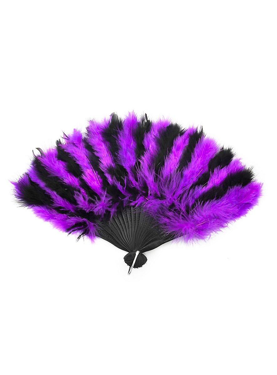 ventail en plumes violet et noir. Black Bedroom Furniture Sets. Home Design Ideas