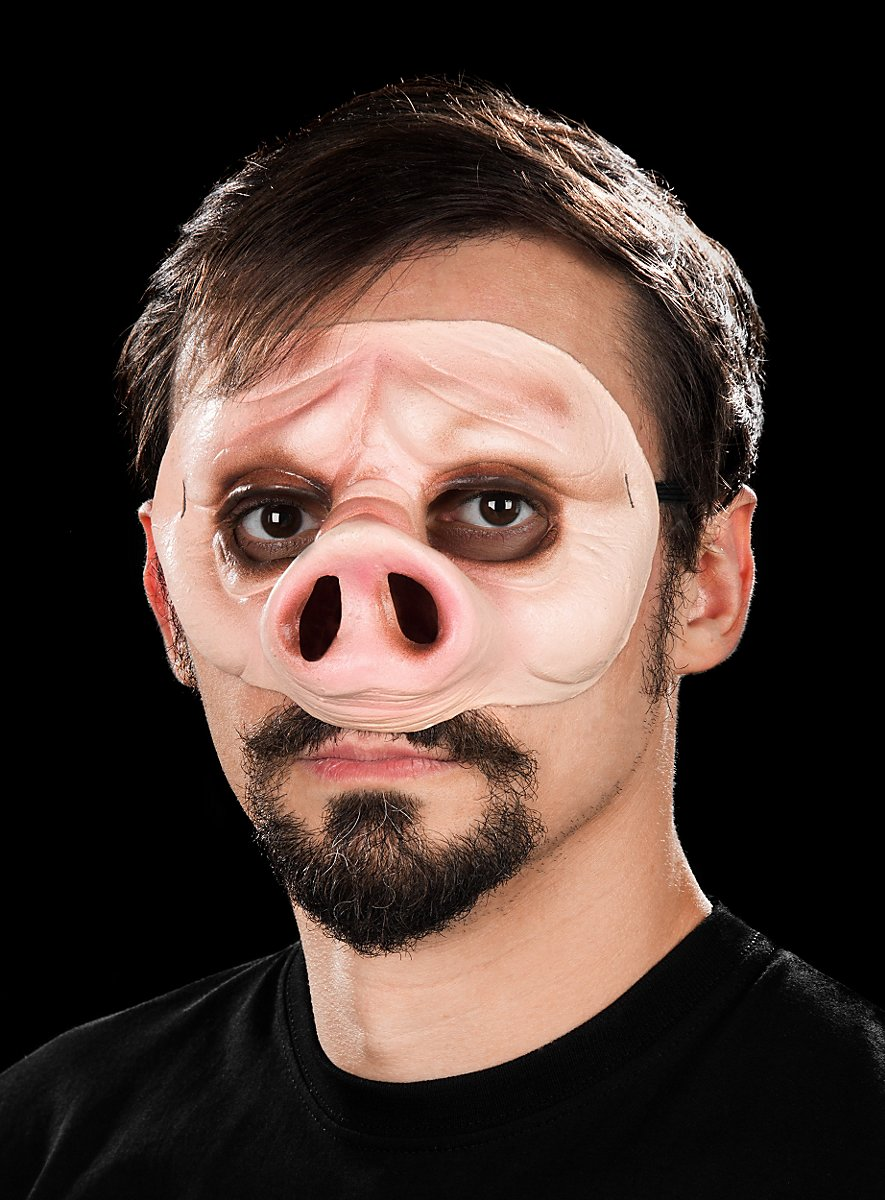 Eye Mask Piggy Made Of Latex Maskworld Com