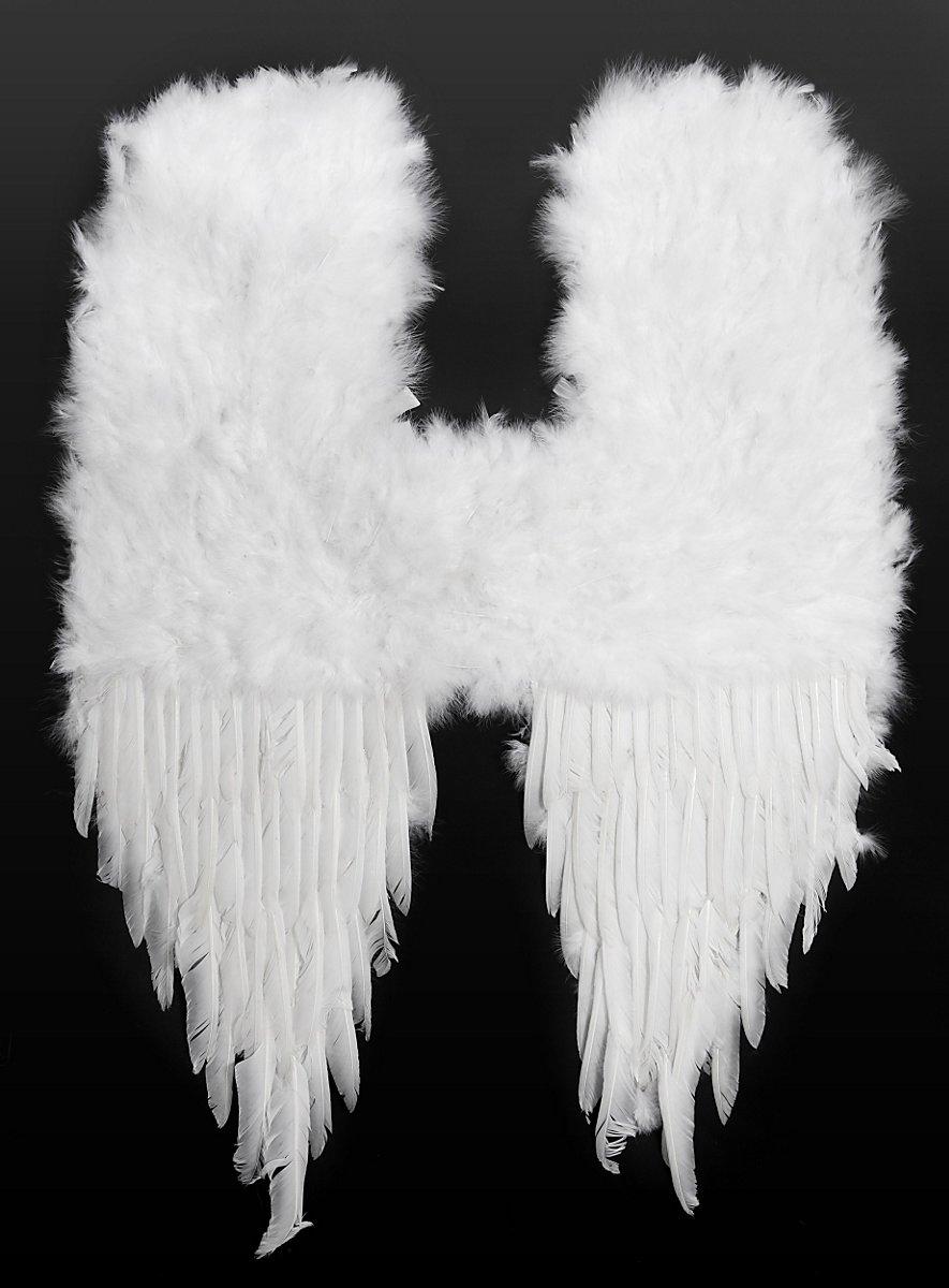 grandes ailes de d mon en plumes blanches. Black Bedroom Furniture Sets. Home Design Ideas