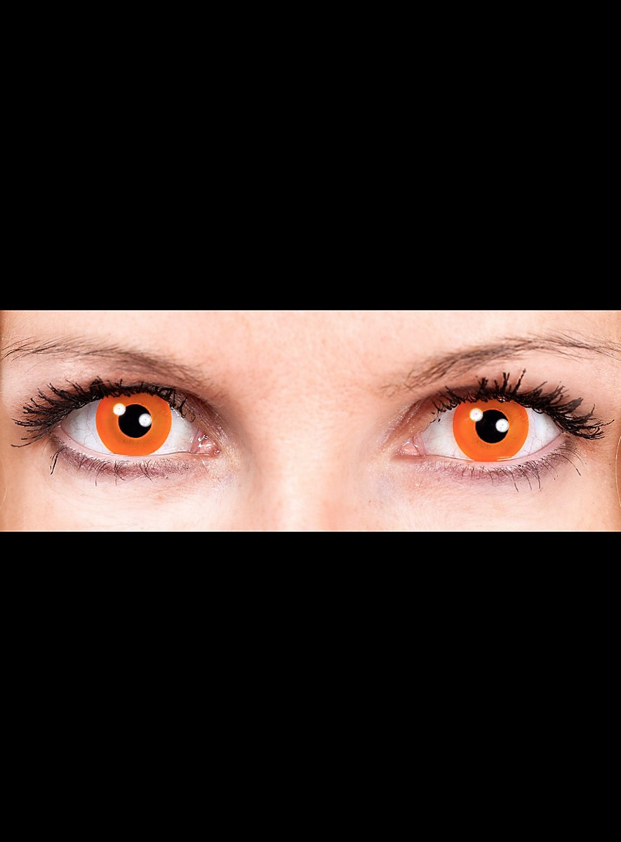 Halloween Orange Special Effect Contact Lens Maskworld Com