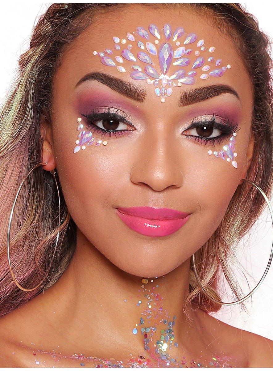Iridescent Pearl Face Jewels Gesichtsschmuck - maskworld.com