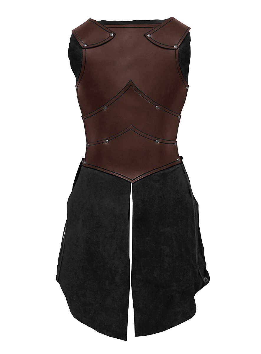 lady leather armor brown maskworldcom