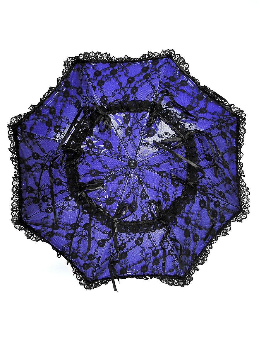 mini sonnenschirm blau mit schwarzer spitze. Black Bedroom Furniture Sets. Home Design Ideas