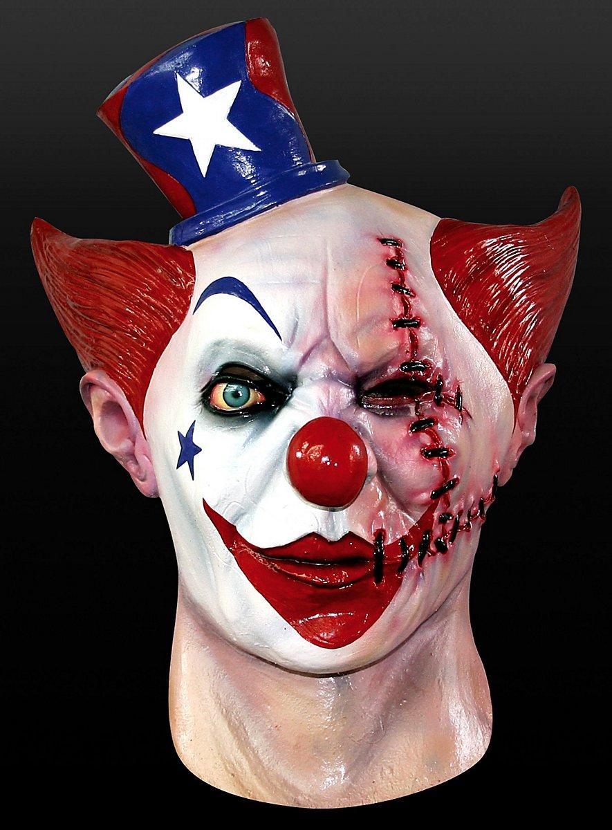 narben clown maske aus latex. Black Bedroom Furniture Sets. Home Design Ideas