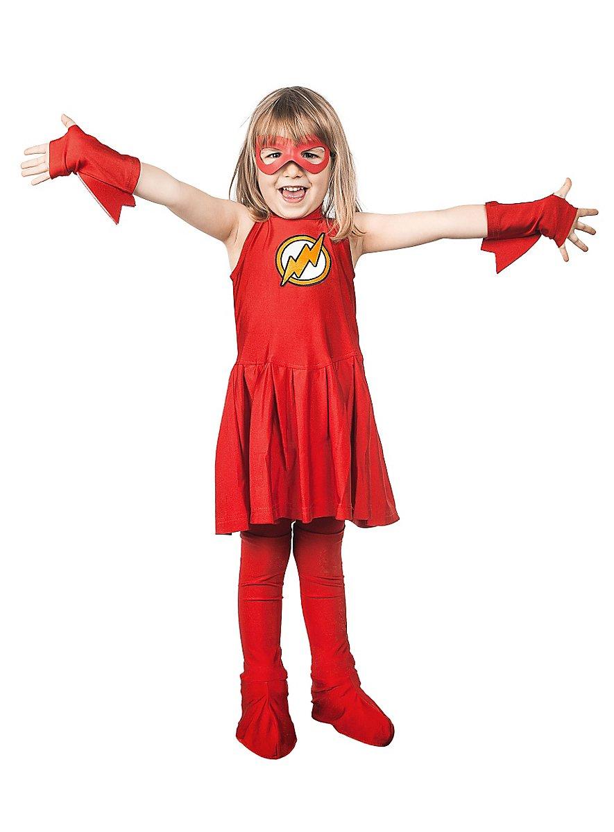 original flash girl costume for girls. Black Bedroom Furniture Sets. Home Design Ideas