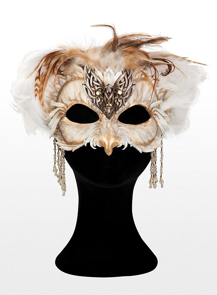 Owl Sorceress Leather Half Mask Maskworld Com