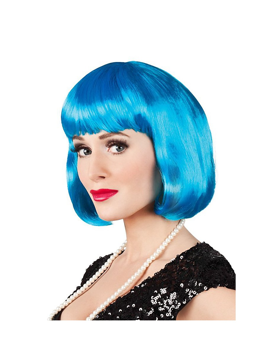 Pageboy Wig Icy Blue Maskworld Com