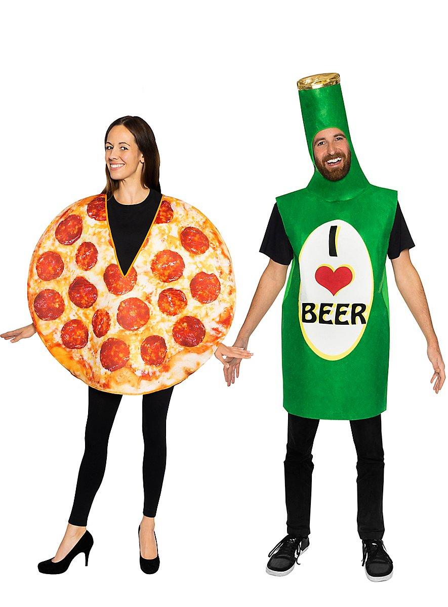 Paarkostüm Pizza und Bier