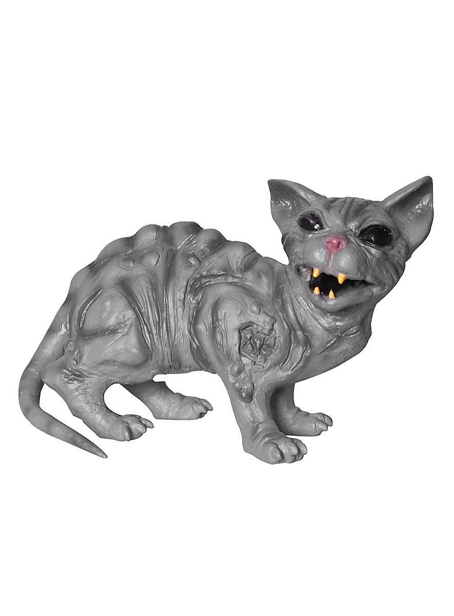 Rabid cat animated halloween decoration for Animated halloween decoration