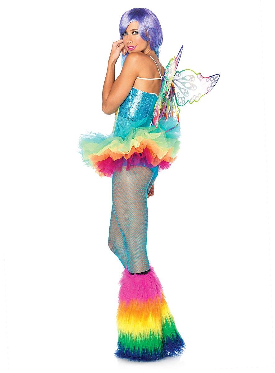 sexy regenbogen elfe kostuem maskworldcom