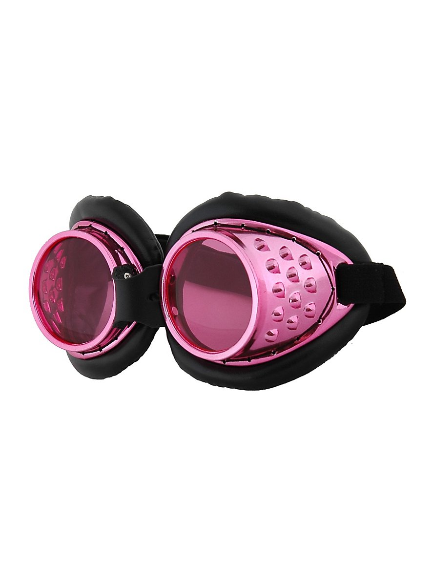 Steampunk Aviator Goggles Pink Maskworld Com