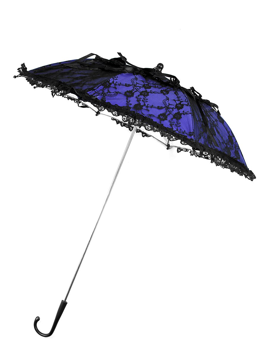 Victorian Parasol blue & black - maskworld.com
