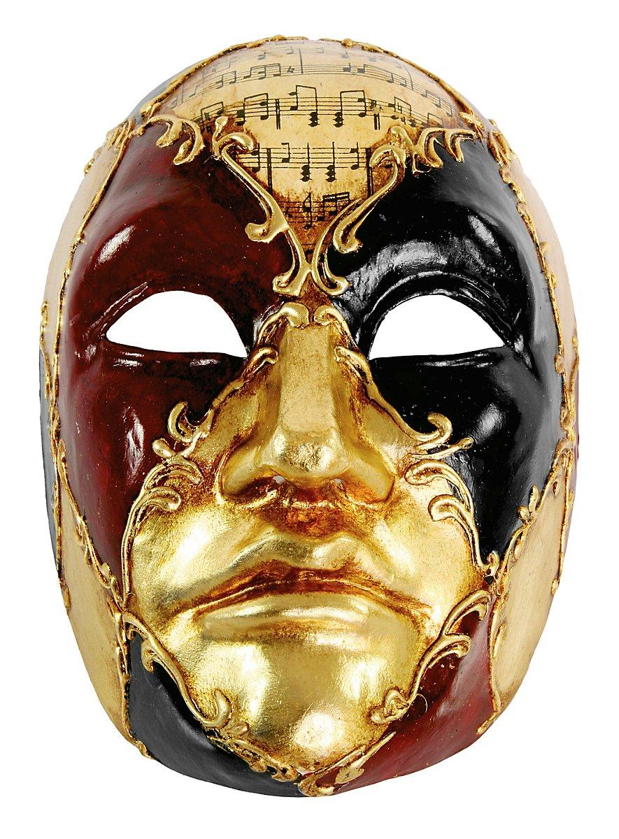 Volto Maschile Schacchi Colore Musica Venetian Mask