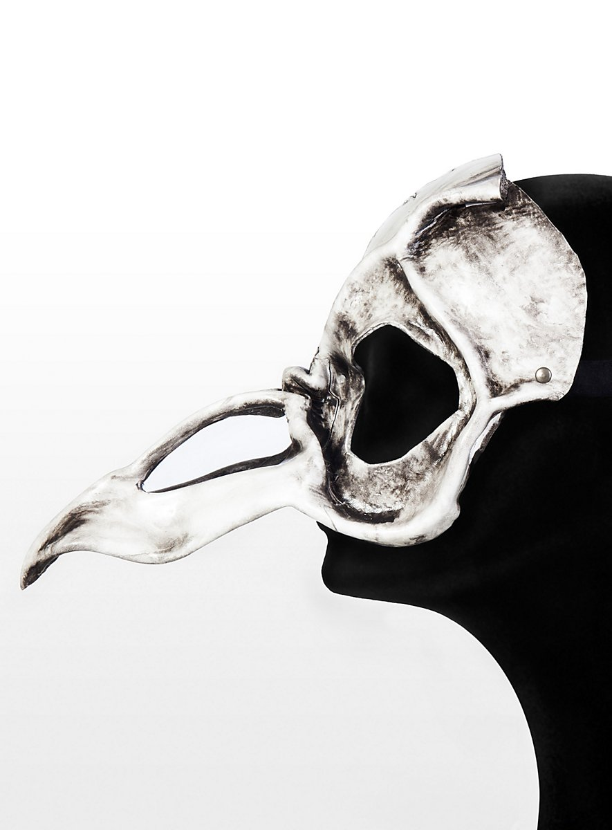 Vulture Skull Leather Half Mask Maskworld Com