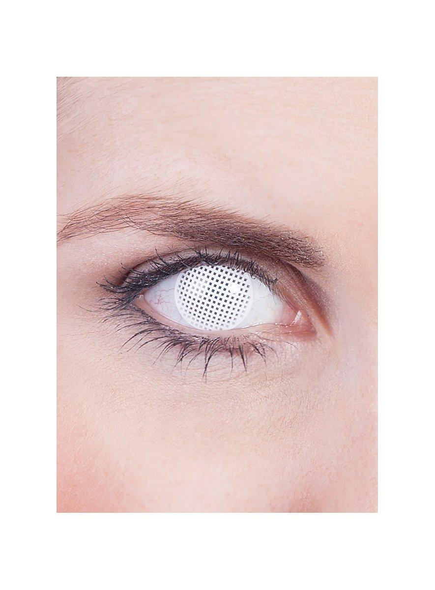 White Mesh Prescription Contact Lens Maskworld Com