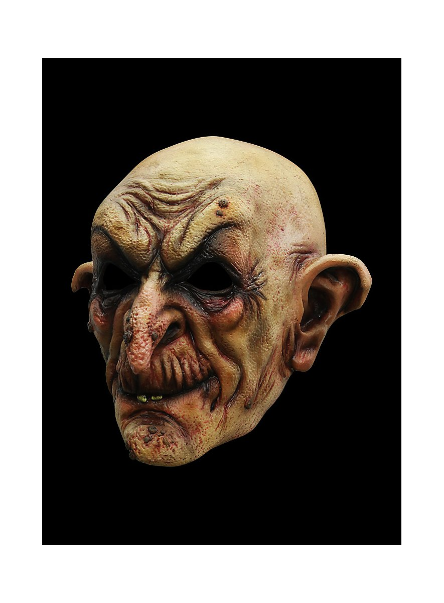 Nasty Halloween Costumes: Wizard Horror Mask Made Of Latex