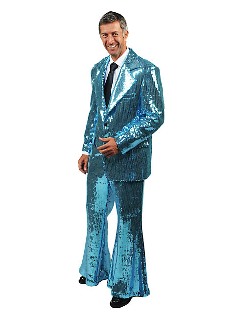 Crooner Sequined Suit turquoise