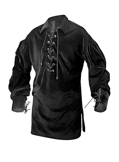 Medieval Cotton Blouse black