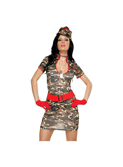 Sexy Army Siren Outfit costume