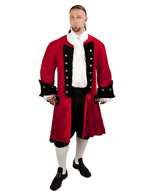 Velvet Dress Coat red