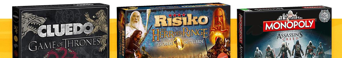Brettspiele Monopoly, Cluedo, Risiko & mehr für Nerds & Fans
