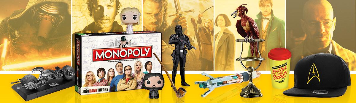 Film Merchandise & Serien Fanartikel - Movie und TV-Show Geschenke