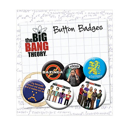 Big Bang Theory - Ansteck-Buttons Icons