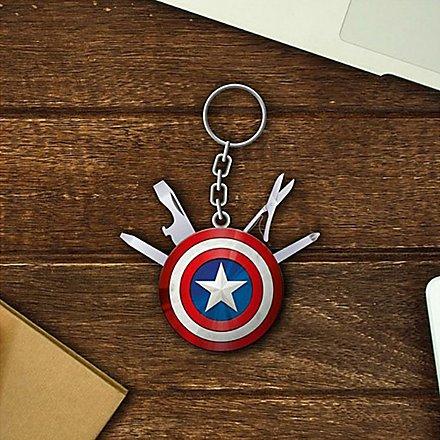 Captain America - Schlüsselanhänger Taschenmesser Schild