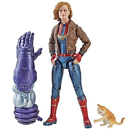 "Captain Marvel - Actionfigur Marvel Legends Captain Marvel in Bomberjacke mit Katze ""Goose"""