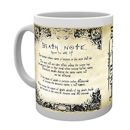 Death Note - Tasse Regeln des Death Note