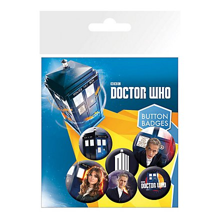 Doctor Who - Ansteck-Buttons 6er-Pack