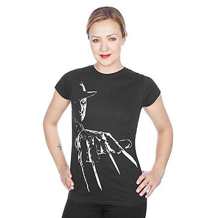 Freddy Krueger Girlie Shirt Klingenhandschuh