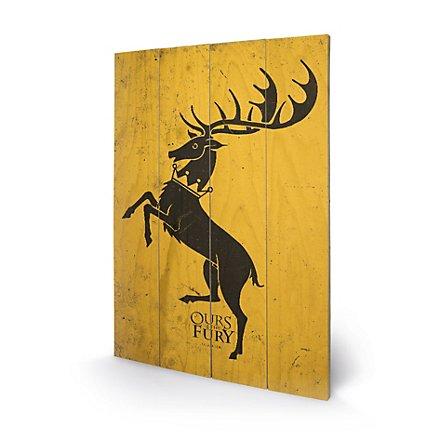 Game of Thrones - Holz-Print Haus Baratheon