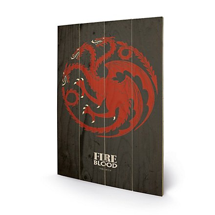 Game of Thrones - Holz-Print Haus Targaryen