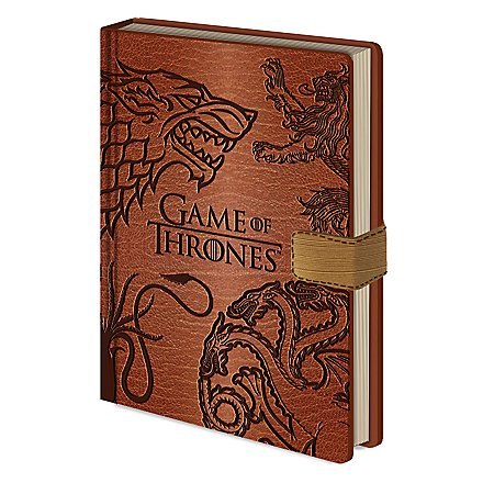 Game of Thrones - Premium Notizbuch GOT Wappen