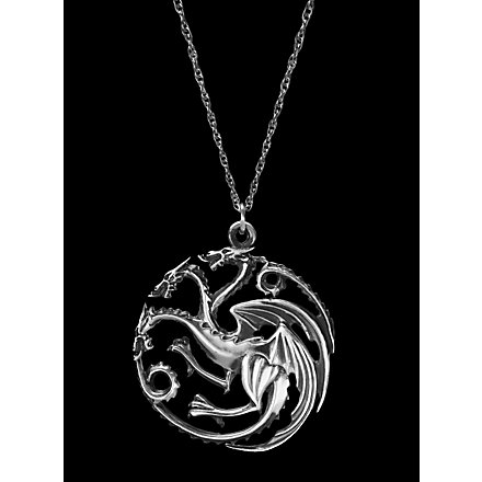 Game of Thrones Targaryen Silberkette
