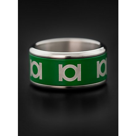 Green Lantern Emblem Ring rotierend grün