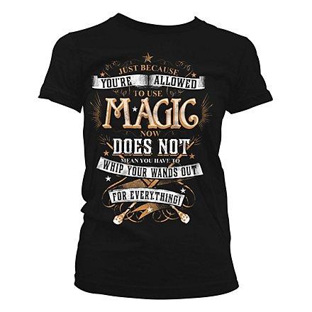 Harry Potter - Girlie Shirt Magic Girly