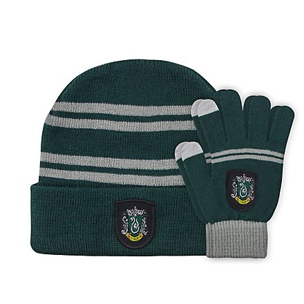 Harry Potter - Kids Beanie & Handschuhe Set Slytherin