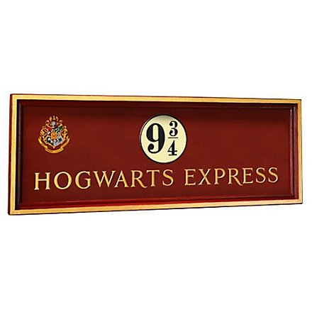 Harry Potter - Schild Hogwarts Expess 9 3/4