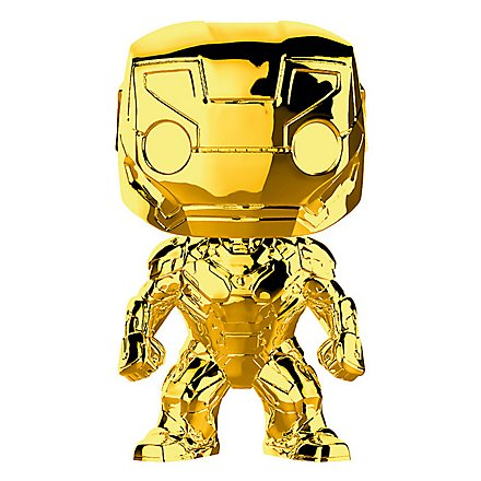 Iron Man - Iron Man (Gold Chrome) Funko POP! Wackelkopf Figur