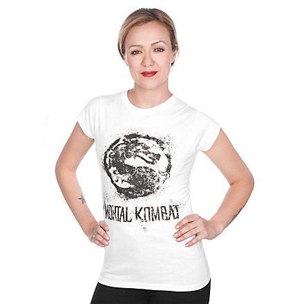 Mortal Kombat Girlie Shirt Logo weiß