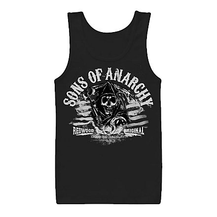 Sons of Anarchy - Tank Top Distressed Flag