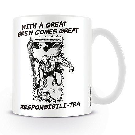 Spider-Man - Tasse Sketch Great Responsibili-Tea