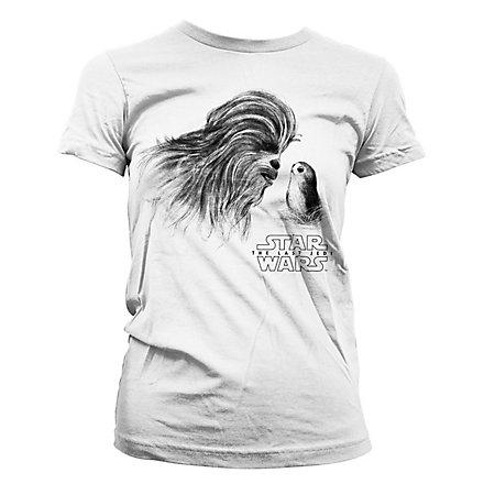 Star Wars 8 - Girlie Shirt Chewbacca & Porg