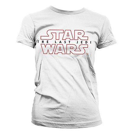 Star Wars 8 - Girlie Shirt The Last Jedi Logo weiß
